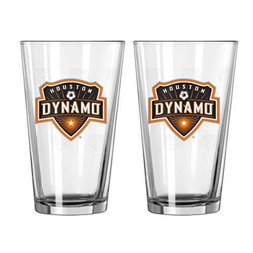 Boelter Brands MLS Houston Dynamo Satin Etch Pint, 16-Ounce, 2-Pack