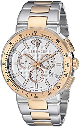 Versace Men s VFG130015 Mystique Sport Two-Tone Gold Ion-Plated and Stainless Steel Watch