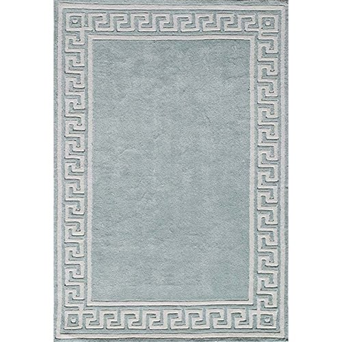Momeni Rugs BLISSBS-23MNT80A0 Bliss Collection, Hand Carved & Tufted Contemporary Area Rug, 8' x 10', Mint Green