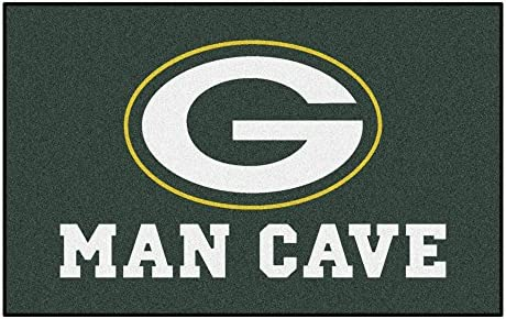 FANMATS 14306 NFL Green Bay Packers Nylon Universal Man Cave UltiMat Rug