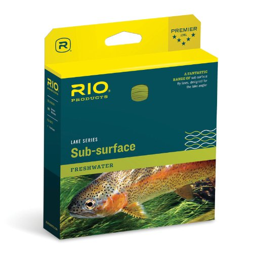 RIO Fly Fishing Fly Line Aqualux Midge Tip Wf6F/I Clear Tip/Yellow Fishing Line, -