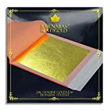 Genuine Gold Leaf Sheets 24k - by Barnabas Blattgold - 3.1 inches - 25 Sheets Booklet - Transfer Patent Leaf
