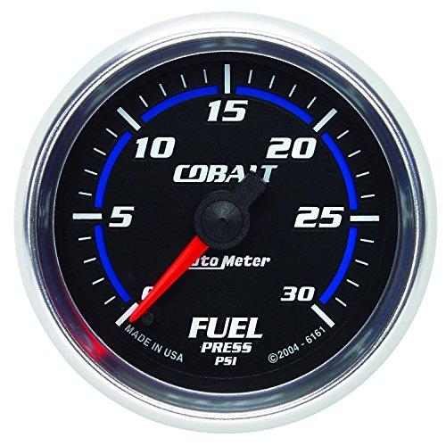 "Auto Meter 6161 Cobalt 2-1/16"" 0-30 PSI Full Sweep Electric Fuel Pressure Gauge"