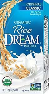 RICE DREAM Classic Original Organic Rice Drink, 32 fl. oz. (Pack of 12)