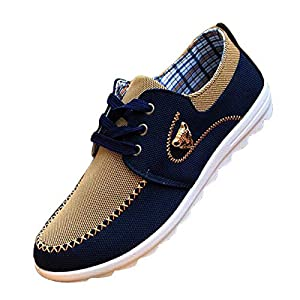 51CbFg9320L. SS300  - tazimall New Casual Sneakers for Men Comfortable Mens Shoes Brown