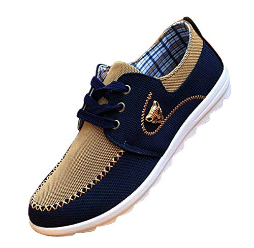 tazimall New Casual Sneakers for Men Comfortable Mens Shoes Brown