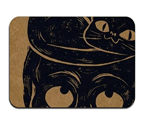 Viola North Custom Halloween Black Cat And Skull Doormat Door Welcome Mat Rug Cover Sign Outdoor Indoor Floor Mats (100 Floors Halloween 34)