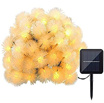 Home-bei Solar String Lights, 22ft 30 LED Chuzzle Ball Fairy Decorative Lights for Outdoor, Home, Lawn, Garden, Patio, Party and Holiday Decorations (Warm White)