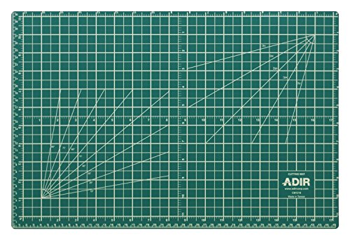 Adir Professional Self Reversible Healing Cutting Mat, 18 by 24-Inch, Green/Black by Adir Corp.