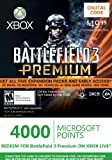 Xbox LIVE 4000 Microsoft Points for Battlefield 3 Premium [Online Game Code] image