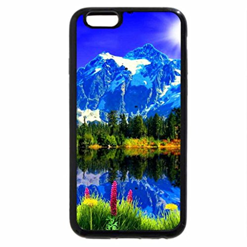 iPhone 6S / iPhone 6 Case (Black) Landascape with mountain and lake