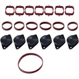 6PCS 22mm Swirl Flap Flaps Delete Removal Blanks Plugs Replacement for BMW M57 M57N M57TU,Manufactured Up to 2004(Black)
