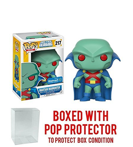 Pop Protector Funko POP! #217 Justice League Unlimited Martian Manhunter Walmart Exclusive! Collectible Vinyl Figure (Bundled with