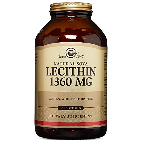 Solgar – Lecithin 1360 mg, 250 Softgels - Natural Soya Lecithin