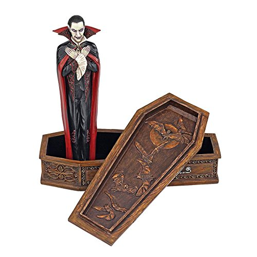 Design Toscano The Vampire Coffin of Dracula Statue for $<!--$38.90-->