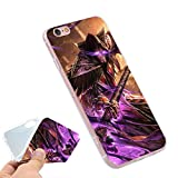 CH Gold Purple World of Warcraft iPhone X Case Medivh I Phone 10 Cover Wow War Craft Battle for Azeroth BFA Horde Vs Alliance Evil Mage MMO PVP Computer Game, Plastic