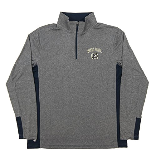 Notre Dame Fighting Irish Charcoal Ridge Runner Pullover Synthetic Windshirt (Large) (Zip Pullover Windshirts)