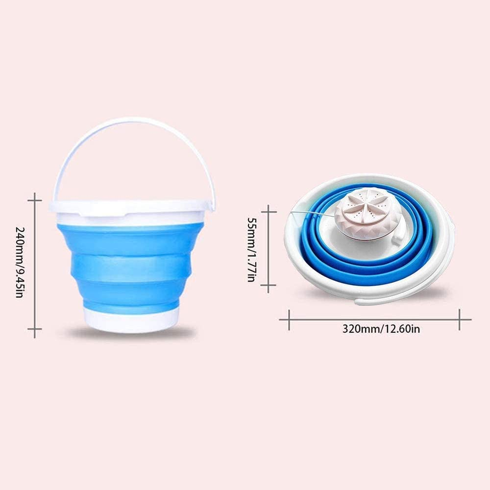 Upgraded Portable Washing Machine Mini Washing Machine for Camping Dorms Business Trip College Rooms Portable Ultrasonic Turbine Washer With Foldable Tub Personal Rotating and USB Cable