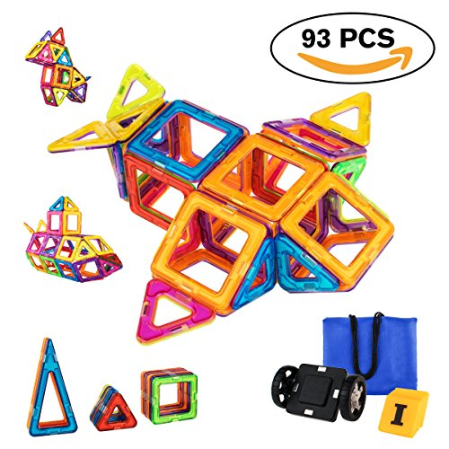 Magnetic Blocks, Magnetic Building Blocks Tiles Set, Educational Toys for Kids/Toddlers/Children with...
