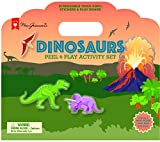 Mrs. Grossman's - Dinosaurs - Peel and Play Kids Activity Set with Reusable Vinyl Stickers and Fold-Out Story Board - with Storage and Travel Handle - For Boys and Girls Ages 3 and Up