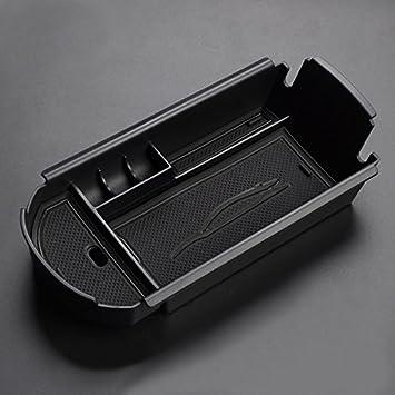 Black Mat A HIGH FLYING Interior Center Console Armrest Storage Box Organizer Holder 1pcs For C-HR 2016-2019