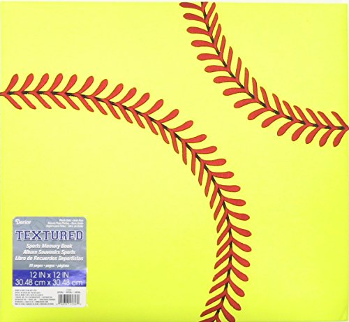 DARICE 12-5007 Softball Themed Scrapbook, 12 by 12-Inch