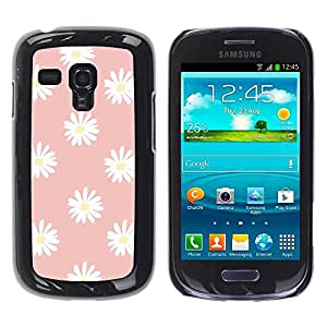 Be Good Phone Accessory // Dura Cáscara cubierta Protectora Caso Carcasa Funda de Protección para Samsung Galaxy S3 MINI NOT REGULAR! I8190 I8190N // Daisy Pink White Flower Petal Pa