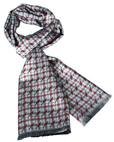 Grey, Your Style, 10'' x 65'' Man's Silk Scarf by Ellettee Collections