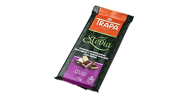 Trapa Tableta de Chocolate Extrafino, con Leche y Arroz Inflado con Stevia - 75 gr: Amazon.es: Alimentación y bebidas