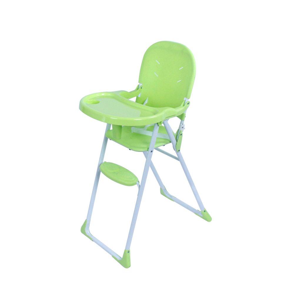 ポータブルベビー用ハイチェア、折りたたみ自転車用マット、プラスチックベビーチェア、BB多機能シート、04歳に適した、L41 * W62 * H98cm ( Color : Green )  Green B07BP9PWYD
