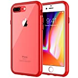 JETech Case for Apple iPhone 8 Plus and iPhone 7 Plus, Shock-Absorption Bumper Cover, Red