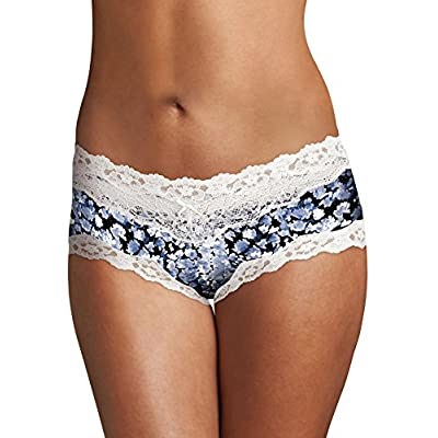 Maidenform Women's Microfiber Scallop Lace Cheeky Hipster Panty at  Women's Clothing store: Maideform Panty Cotton
