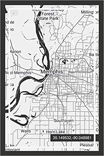 Amazon Com Weekly Planner Book With Memphis Tennessee Map Cover