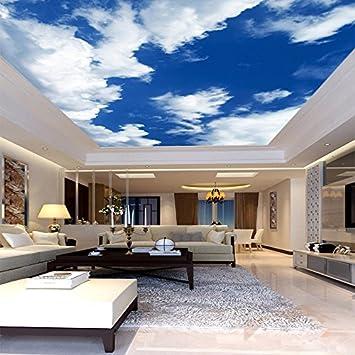 Fond D Ecran Ciel Bleu Et Nuages Blancs Plafond Zenith Mural Design
