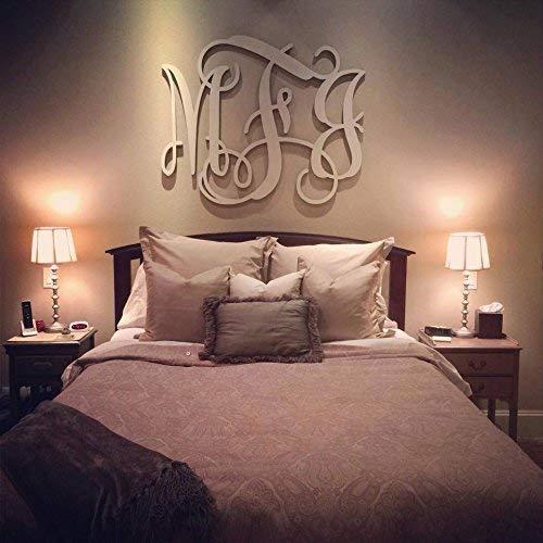 Wooden Vine Monogram, Unpainted Vine Monogram Wall Hanging, Nursery Monogram, Wedding Monogram, Monogram Door Hanger, Monogram, Nursery from FultonCraft