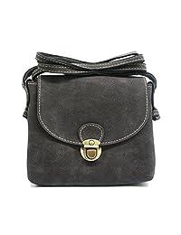 Artone Vintage Shoulder Bag Suede Small Cell Phone Purse Black