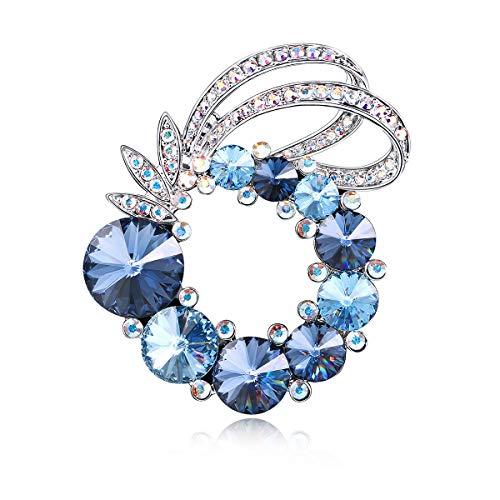 RAINBOW BOX Fashion Brooches for Women,Rhinestone Brooch Pin from Swarovski Crystal Jewelry, Brooch Pins for Mom Girlfriend Wife