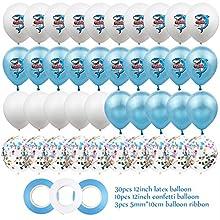 KAEHA SUN-064-23 40 piezas de globos de látex de 12 pulgadas para decoraciones temáticas de fiesta bajo el tiburón marino con 3 cintas, Star