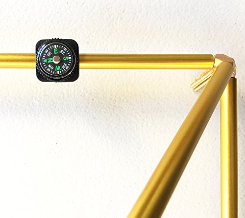 25'' Gold-Anodized Titanium Pyramid Frame Kit from Nick Edwards' Pyramid Planet by Nick Edwards Pyramid Planet (Image #3)