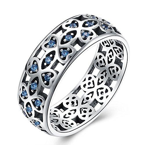 YJEdward Elegant Simulated Diamond Ring Fashion 925 Silver Wedding Gift Party Wear (8) by YJEdward