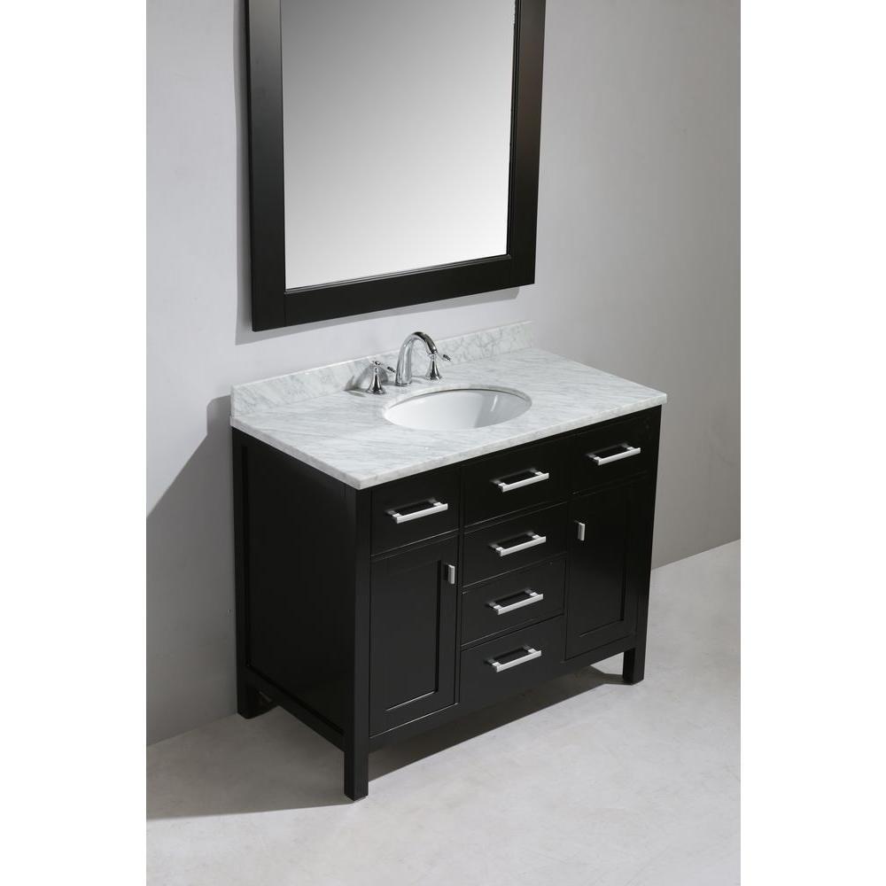 Design Element Dec076f London 42 Single Sink Vanity Set In Espresso Finish Amazon Com