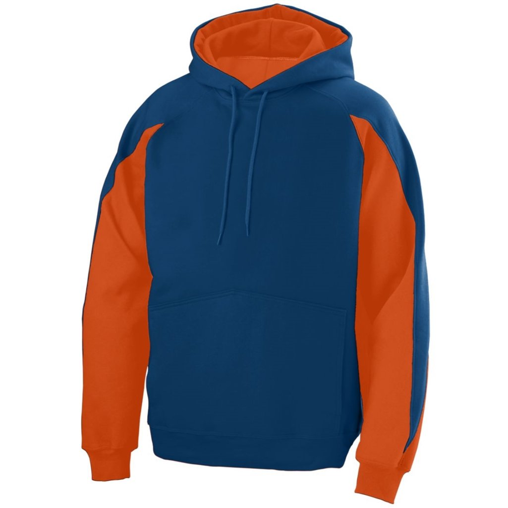Augusta Youth Volt Hoody- Style 5461 (Small, Navy/Orange)