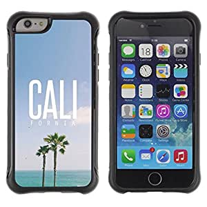 Suave TPU GEL Carcasa Funda Silicona Blando Estuche Caso de protección (para) Apple Iphone 6 / CECELL Phone case / / California palm trees summer sky sun /