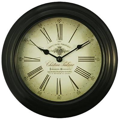 Equity by La Crosse 26901 10 Inch Black Metal Wall Clock - Solid metal frame Metal hands Glass lens - wall-clocks, living-room-decor, living-room - 51CbLqR3QHL. SS400  -