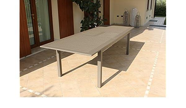 Cuba mesa extensible 220/280 x 100 de aluminio para muebles jardín y exterior Taupe: Amazon.es: Jardín