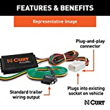 CURT 55339 Vehicle-Side Custom 4-Pin Trailer Wiring