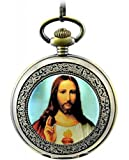 Infinite U Christianity the Jesus Christ Roman Numerals Steel Mechanical Pocket Watch