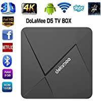 Smart TV Box,EEDI DOLAMEE D5 Android TV Box Android 5.1 Lollipop OS Bluetooth: V4.0 with Rockchip RK3229 Quad-core 2.4G WiFi 1G/8G Streaming Media Players XBMC 4K Ultra HD Smart Tv Boxes