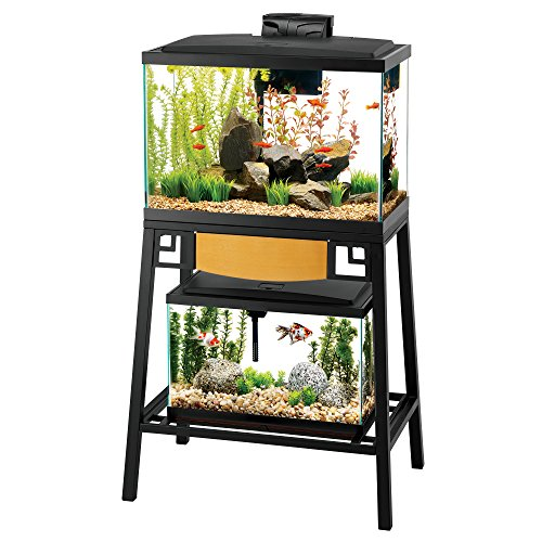 "Aqueon Forge Aquarium Stand 24X12"" Black/Brown"