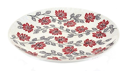 Blue Rose Polish Pottery Camellia Dinner Plate